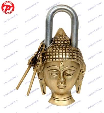 Lock W/ Keys Buddha Head Design