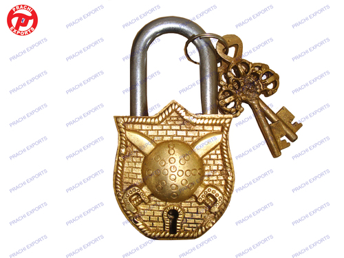 Lock W/ Keys Sword & Shield Design