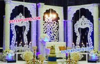 Western Wedding Fiber Carved Panels Stage