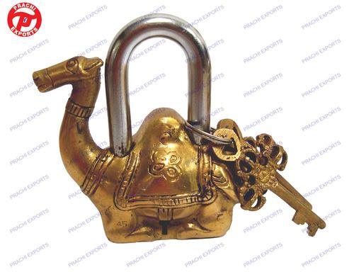 Lock W/ Keys Camel Design