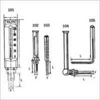 Mercury Filled Thermometers With Metal Case