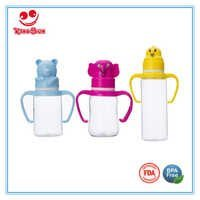 Animal Cap PC Baby Feeding Bottle in Normal Neck