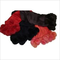 Fur collar Silk pashmina shawl