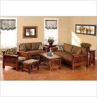 Designer wooden sofa 5 seat