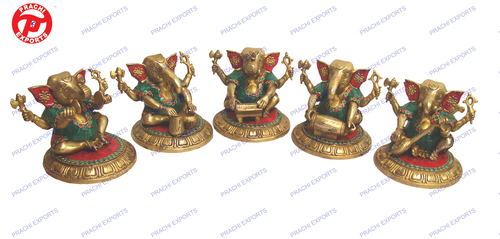 Ganesh Plying Musical Set Of 5 Pcs W/ Stone Work