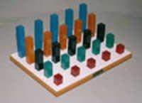 Graded Square Peg Board