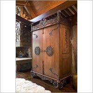 Antique Teak Wood Wardrobe