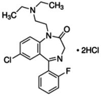 Flurazepam monohydrochloride - reference spectrum