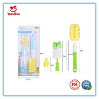 360 Degree Sponge Baby Feeding Bottle Brush Set