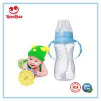 Wide Neck Plastic Feeding Bottle 330ML For Infant