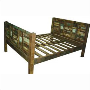 Small Double Wooden Bed