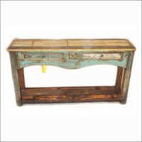 Wooden Drawer Console Table