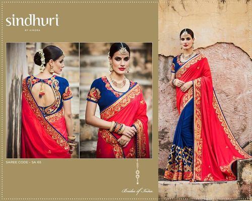 Buy Embroidered Work Designer Saree Online