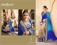 Shop Heavy Work lehariya style Saree Online