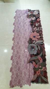 boil wool embroidery with australian lace scarves