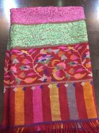 Pashimna Towel Kani Border Scarves