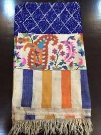 Designer Pashimna Towel Kani Border Scarves