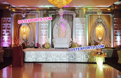 French Wedding Fiber Panels Stage