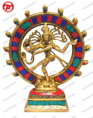 Natraj Dancing W/ Stone Work In Ring