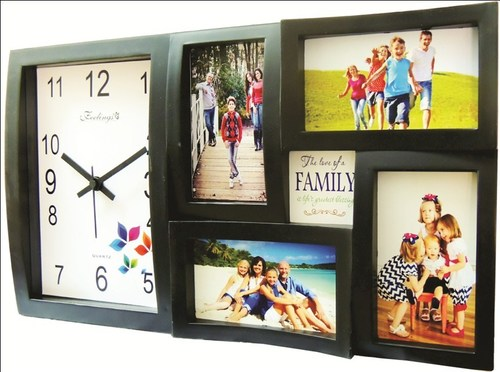 Feelings Rainbow Photoframe/collage wall clock