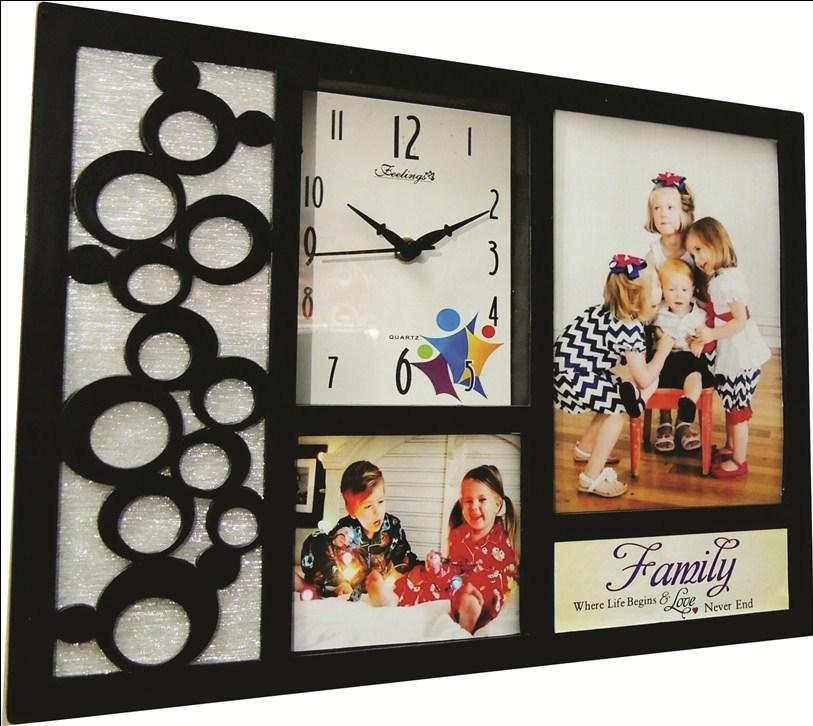 Feelings Cherish Photoframcollage Wall Clock Feelings Cherish