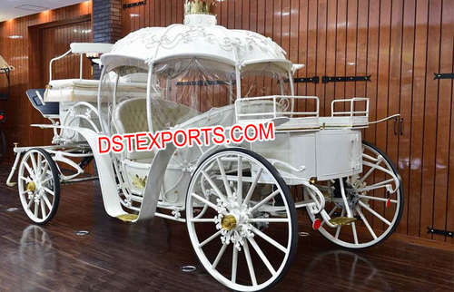New Cinderella Horse Drawn Carriage With Hood