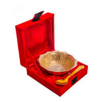 Royal Silver Gold Plated Brass Bowl