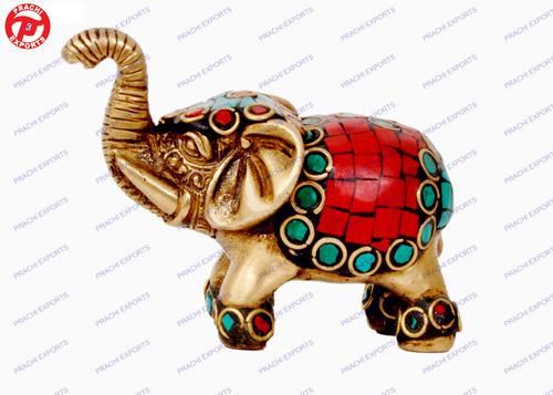 Elephant Trunk Up W/ Stone Work