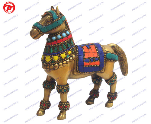 Horse Standing W/ Stone Work
