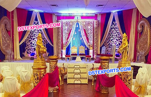 Traditional Golden Mandap