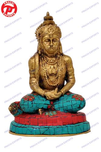 Hanuman Meditating W/Stone Work