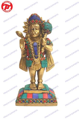 Hanuman Standing W/ Tail W/ Stone