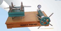 Laboratory Sheet Press (Hydraulic Type-Manually Op