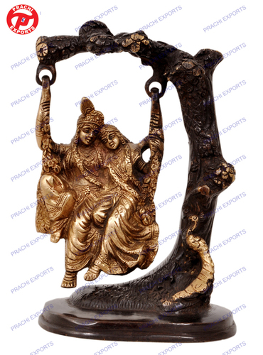 Radha Krishna Swing On Tree