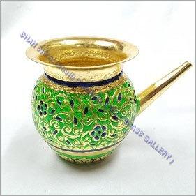 Brass Meenakari Kalash