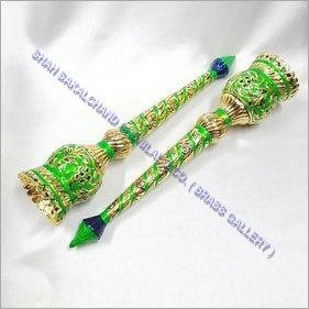 Brass Meenakari Chamar