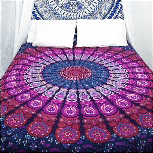 Peacock Design Bed Sheet