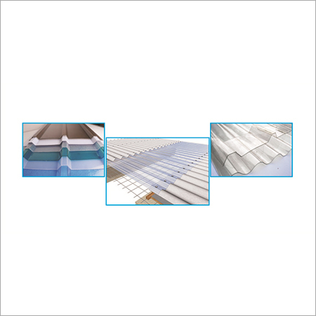 Polycarbonate and Fiber Roofing Sheet