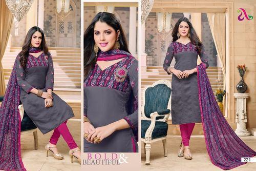 Chanderi Cotton Suit