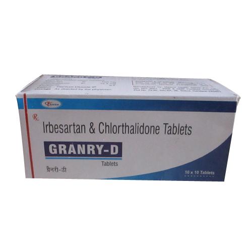 Irbesartan 150 mg+ chlorthalidone 12.5 mg