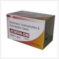 Acebrophylline 200mg SR+Desloratedine 5 mg+ Montilukast 10mg