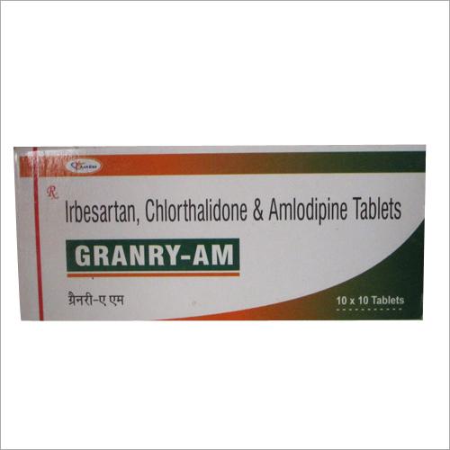 Irbesartan 150 mg+ chlorthalidone 12.5 mg+amlodipine 5mg