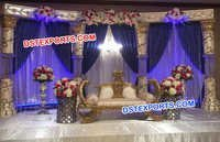 Crystal Pillar Royal Asian Wedding Stage