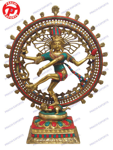 NATRAJ DANCING DOUBLE RING W/ STONE WORK