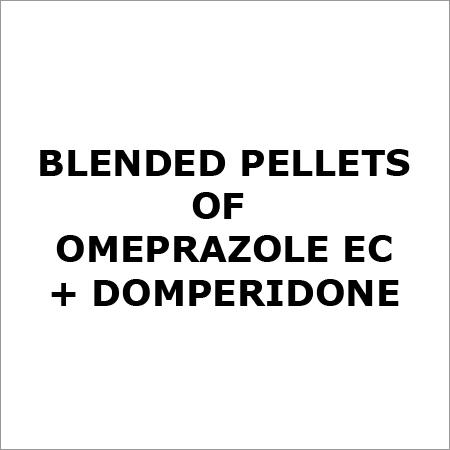 Blended pellets of Omeprazole EC + Domperidone