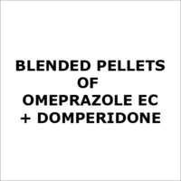 Blended pellets of Omeprazole EC + Domperidone