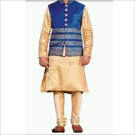 Designer Jacket With Kurta Pyjama