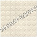 Square Ivory Vitrified Parking Tiles