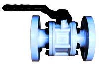 POLYPROPLENE BALL VALVE FLANGE END