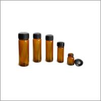 Tubular Amber Bottles